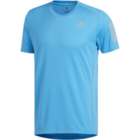 adidas Own The Run T-Shirt Men, shock cyan/reflective silver